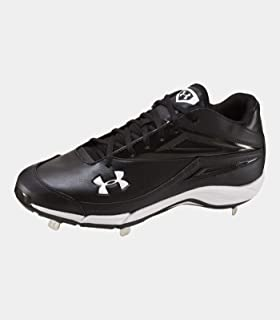 Under Armour New Men's Clean Up Mid ST Metal Baseball Cleats Black/White 9.5