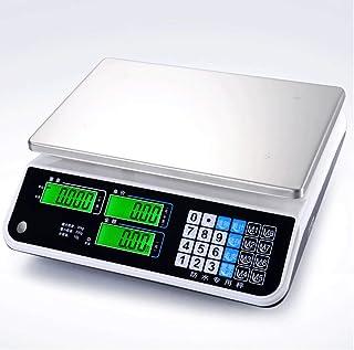 ZNND Impermeable Electrónico Escala, Mariscos Acuático Precio Comercial Plataforma Preciso Cocina Peso Los Ingredientes (Tamaño : 30kg/5g)