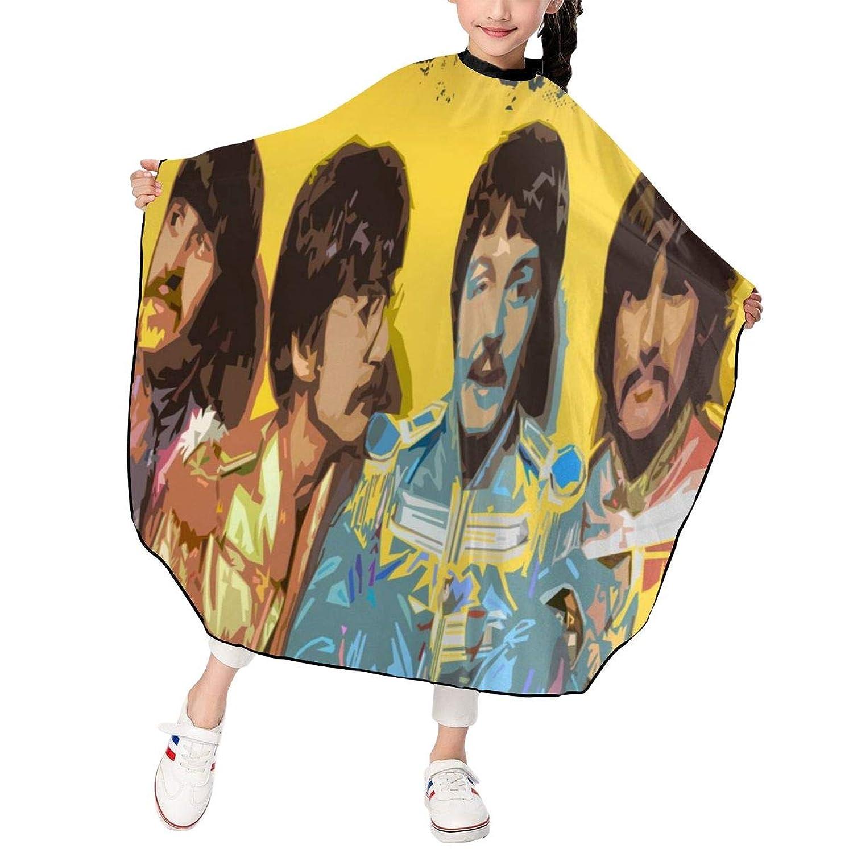 プレビスサイト鳴らす野望最新の人気ヘアカットエプロン 子供用ヘアカットエプロン120×100cm 音楽The Beatles 柔らかく、軽量で、繊細なポリエステル生地、肌にやさしい、ドライ