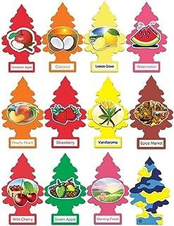 خانه های کوچک درختان و خوشبو کننده هوا 12 بسته محبوب ترین عطرهای میوه ای