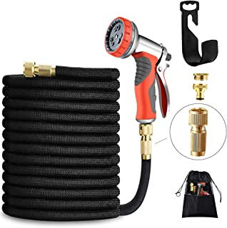 Sponsored Ad – LUFENG UPGRADED Expandable Hose 150FT 45M Garden Hose with Double Latex Core Hose Pipe Solid Brass Fittings...
