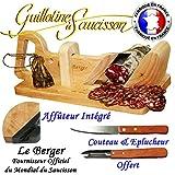 Guillotina para embutidos (tradicional el pastor affuteur Integre & securtite protege dedos Offert & cuchillo y pelador inxo incluye garantía 3años
