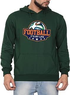 Swag Swami Unisex CottonFootball It's My LifePrinted Hoodie | Hooded Sweatshirt