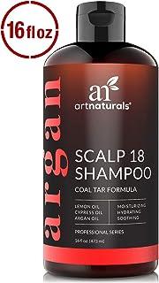 ArtNaturals Therapeutic Argan Anti-Dandruff Shampoo - (16 Fl Oz / 473ml) - Natural and Organic Coal Tar with Argan Oil - T...