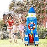 Qrooper Water Toys Inflatable Sprinkler for Kids, 72 inch Giant Kids Sprinkler Summer Outdoor Toys for Kids Play Water Rocket Sprinkler