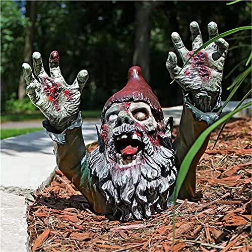 SDASF Resin Zombie Gnomes Garden Gnomes Garden Decor, for Garden Sculptures & Statues Outdoor...