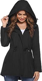 کت بارانی زنانه سبک HOTLOOX کاپشن ضد آب ضد آب فعال در فضای باز با جیب های ضد باد S-XXL