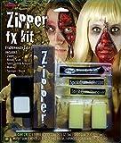 Reißverschluss FX Make-Up Satz Unisex Kostüm Halloween Accessoires Horror Kostüm