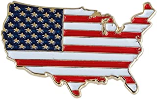 Forge United States Outline American Flag Patriotic Lapel Pin (Value Pack)