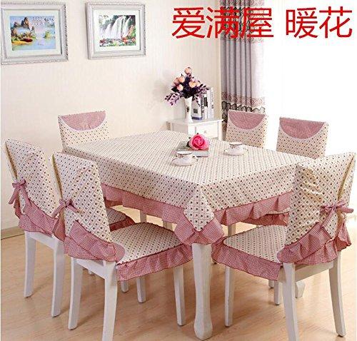 nappes pastorales de dentelle, tissu de table, linge de table, chaise linge de table coussin, couverture de chaise,110*160CM