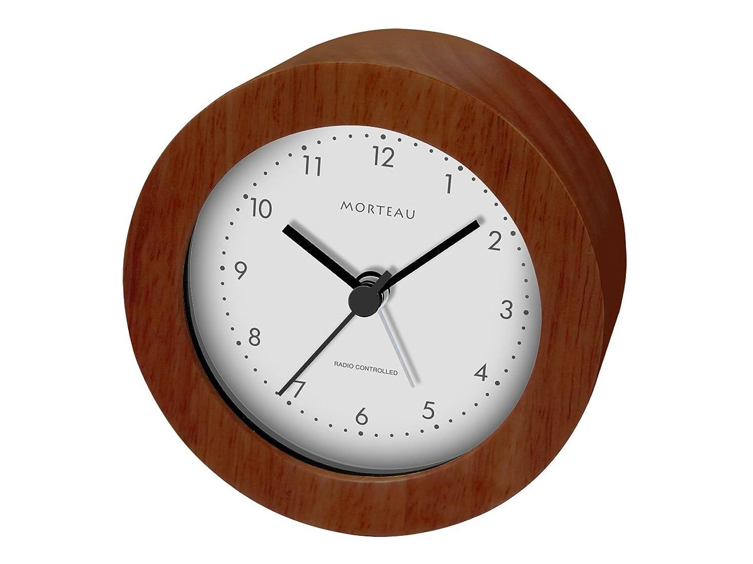 集中時代聖職者誠時(セイジ) 目覚まし電波時計 Morteau Brown モルトー ブラウン RW-018BR