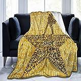 Throw Blanket Flannel Fleece All Season Light Weight Living Room/Bedroom Warm Blanket