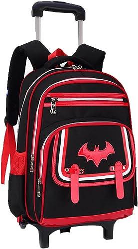 MineGrüng Mode Neue style Kinder Schule Taschen 2 6 R r Abnehmbarer Trolley Rucksack Kids Klettern Treppe Boys Girls wasserdicht Bookbag, rot 2 R r