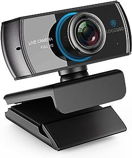 LOGITUBO CáMara Web, Webcam Full HD 1080P Doble MicróFono para Videollamadas y GrabacióN Web para Ordenador PortáTil Ordenador de sobre Mesa Mac RetransmisióN de TV En Directo en OBS Facebook
