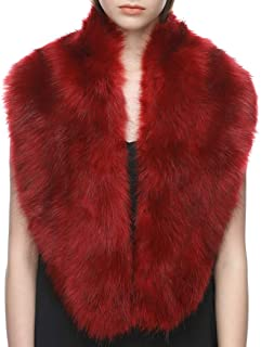 Extra Large Women's Faux Fur Collar for Winter Coat