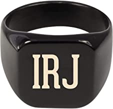 Molandra Products IRJ - Adult Initials Stainless Steel Ring