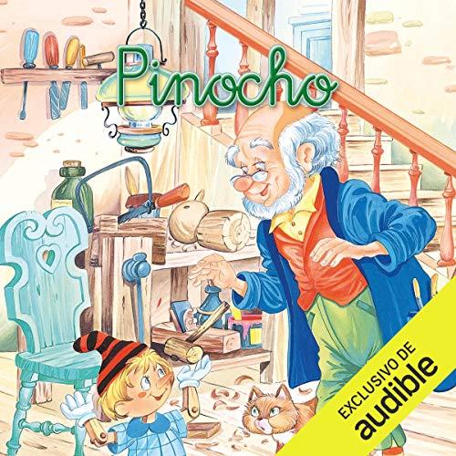 Diseño de la portada del título Pinocho (Narración en Castellano)