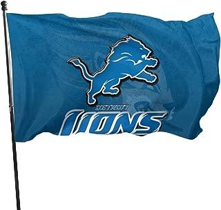 Fimend De-troit Lions Flag Deluxe Long Lasting Outdoor