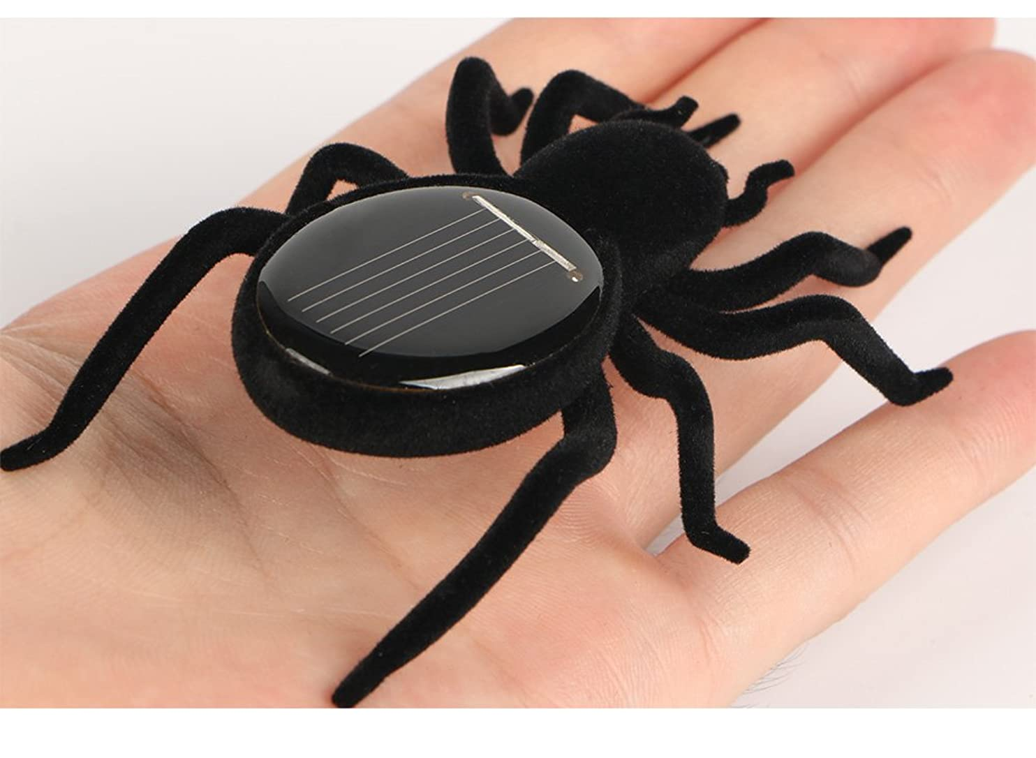 Qinmay Solar Powered Automatic Solar Spider Tarantula Educational Robot Scary Insect Gadget Trick Solar Kids Robot Toy tnwndcvnusg04