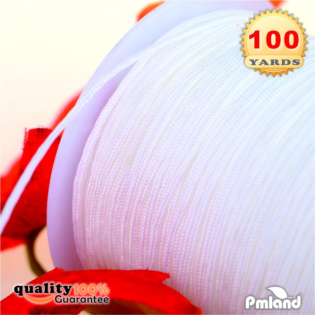 PMLAND 1 X Roll of 100 Yards Lift Shade Cord 0.9 mm - White
