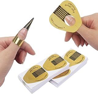 Ahier Nail Forms, 200PCS Acrylic Nail Forms, Gold Horseshoe Nail Extension Tips, Nail Forms for Acrylic Nails, Acrylic Nai...
