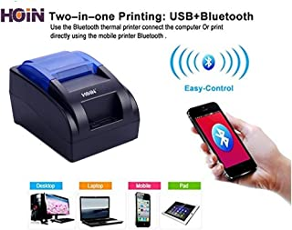 HOIN BIS Certified 58MM Bluetooth + USB Thermal Printer