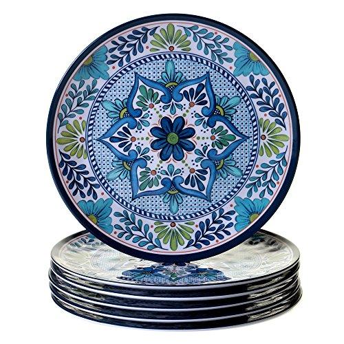 Certified International Talavera 11' Dinner Plate (Set of 6), Multicolor