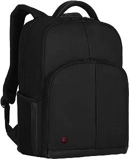 Wenger Link 16 mochila portátil, portátiles hasta 16″, tabletas hasta 10″, 21 l, mujer, hombre, negocios, universidad, escuela, viajes, negro