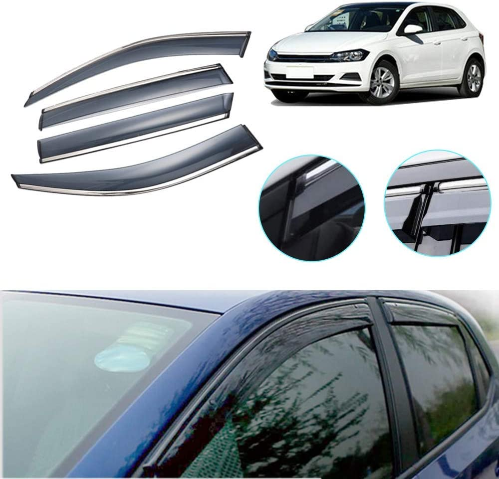 Be super welcome Maite Side Window Deflector El Paso Mall for VW Hatchback Polo 2019-2020 plus