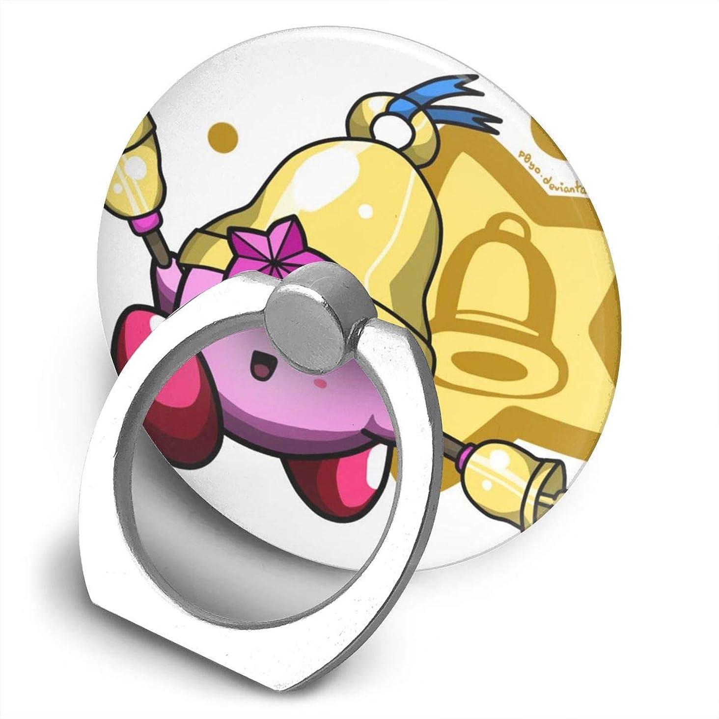 野生バッグ登録するGreatayifong 星のカービィ スターアライズ バンカーリング スマホ リング 人気 ホールドリング 薄型 スタンド機能 ホルダー 落下防止 軽い 360 回転 IPhone/Android各種他対応 (シルバー)