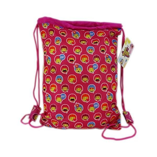 616Dc10WhZL. SS600  - Disney Soy Luna Icons Mochila Bolso Saco Escolar Tiempo Libre Rosa