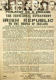 Poster Irland 1916 Proclamation – mit Sieben
