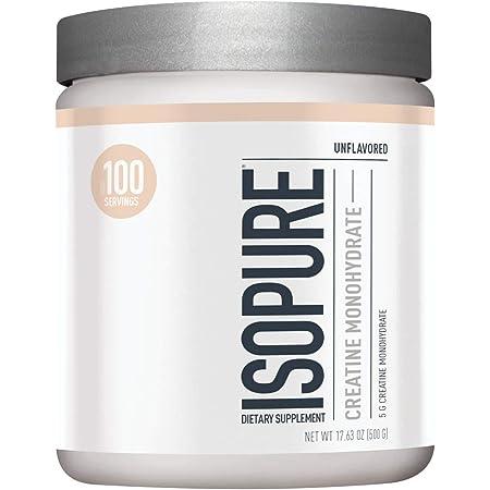 Isopure Unflavored Creatine Monohydrate Powder 500g
