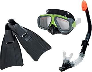 Intex Surf Rider Kids Swimming Diving Mask, Snorkel & Fin Set | 55959
