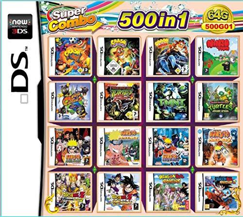 500 giochi in 1 pacchetto di gioco NDS carta super Combo cartuccia per DS 2DS Nuovo 3DS XL