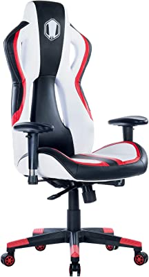 Gaming Office Chair with Adjustable High-Back,Large Ergonomic Computer Desk Chair with PU