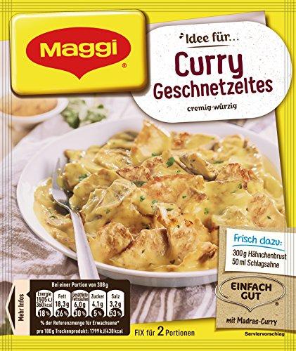 Maggi fix & frisch, Curry Geschnetzeltes, 17er Pack (17x41g)