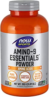 NOW Sports Nutrition, Amino-9 Essentials™ Powder, Amino Acids, 330-Grams