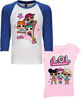L.O.L. Surprise! Girls' 2 Pack T-Shirt Bundle