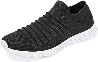 [Newdenber] 静音 スリッポン ニット 軽量 スニーカー 蒸れず ウォーキングシューズ 室内靴 メンズ 紐なし 着脱簡単 25.5~30.5センチ