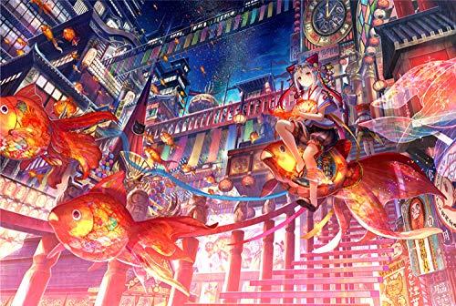 LZQZJD Puzzle 6000 Stück Adult Fish Fantasy Kunst Landschaft Anime Girl Friendship Geschenk Freizeit Unterhaltung Party Dekoration