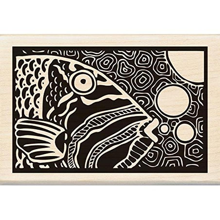 Inkadinkado Wood Stamp, Parrot Fish