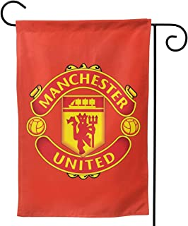 YOUDE-BAIDA Manchester United Flag Double-Sided Printing Decorative Holiday Home Flag12.5 X 18 Inch