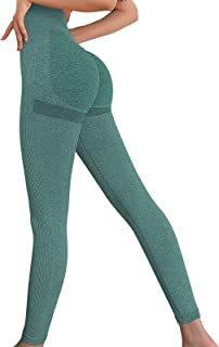 Bodybay Women Seamless Leggings Booty High Waist Leggings Ruched Butt Tummy Control Workout Yoga Gym