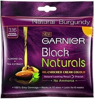 20gm-garnier Black Naturals Oil-enriched Cream Colour-3.16 Natural Burgundy
