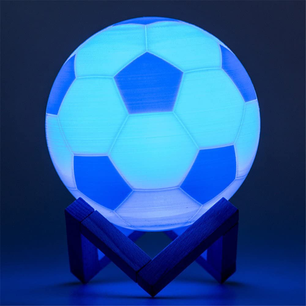 Welsun Outlet ☆ Free Shipping Rechargeable Ranking TOP8 Football Lamp LED Light Printi 3D Night Bulb