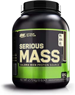 Optimum Nutrition ON Serious Mass Proteína en Polvo Mass Gainer, con Vitaminas, Creatina y Glutamina, Chocolate, 8 porciones, 2.73 kg, Embalaje puede variar
