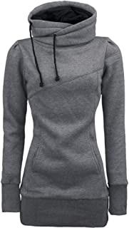 Wintialy Womens Long Sleeve Pullover Funnel Neck Vintage Corn Tunic Sweater Hoodie
