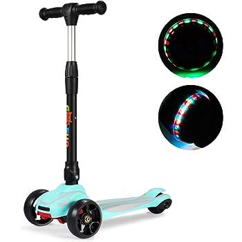 Monopattino Scooter Pedale per bambini 3 ruote lampeggianti a LED razzo
