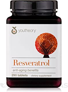 Youtheory Resveratrol SuperFruits, 290 Tabs (Pack of 1)